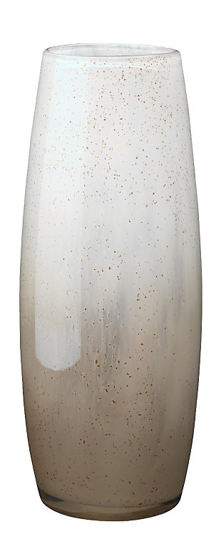 Solar Large Vase in Gold Ombre Glass, , large