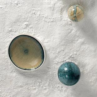 Santorini Large Low Rim Bowl in Sand Ombre, , large