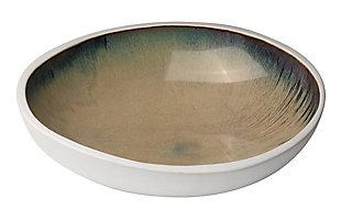 Mykonos Large High Rim Bowl in Sand Ombre, , large