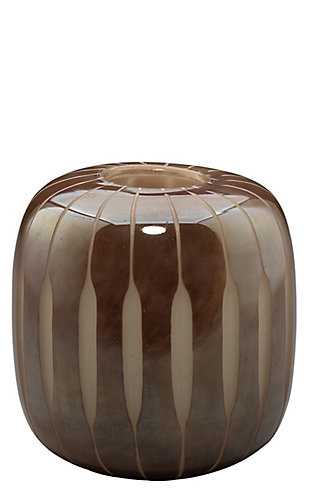 Finn Small Midcentury Vase in Mauve Glass, , large