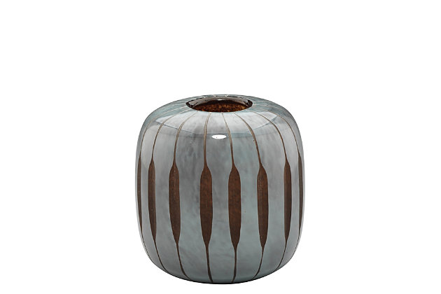 Finn Small Midcentury Vase in Midnight Blue Glass, , large