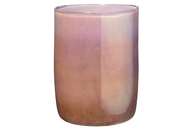 Medium Vapor Vase in Metallic Lavender, , large