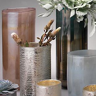 Large Vapor Vase in Metallic Lavender, , rollover