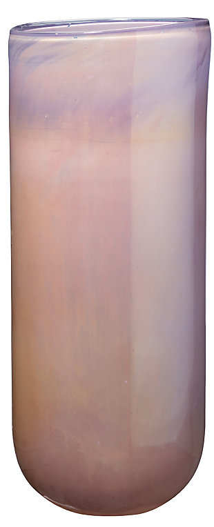 Large Vapor Vase in Metallic Lavender, , large