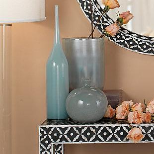 Medium Vapor Vase in Metallic Opal, , rollover