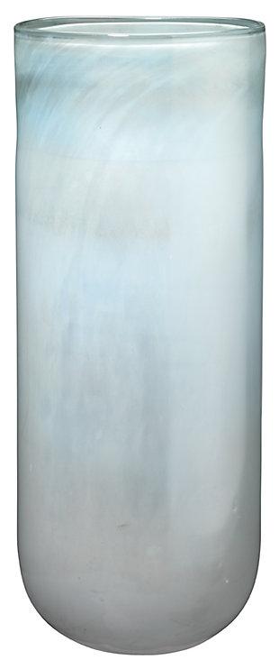 Large Vapor Vase in Metallic Opal, , large