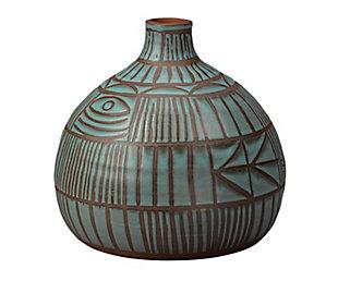 Ritual Vase in Blue Ceramic, , large