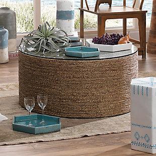 Small Porto Tray in Blue Ceramic, , rollover