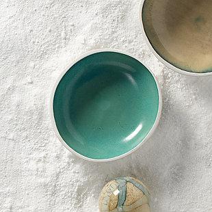 Mykonos Large High Rim Bowl in Ocean Ombre, , rollover