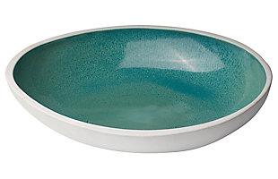 Mykonos Large High Rim Bowl in Ocean Ombre, , large