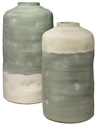 Mohave Vessels in Pistachio Ceramic (Set of 2), , large