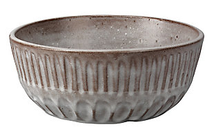 Cradle Bowl in Gray Ceramic, , large