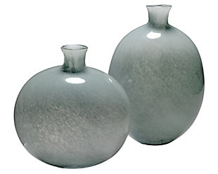 Minx Decorative Vases in Gray Glass (set of 2), , large