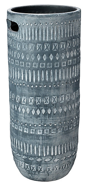 Small Zion Ceramic Vase in Gray and White, , large