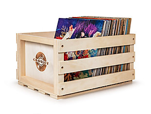 Crosley Record Storage Crate, Natural, large