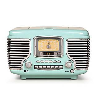 Crosley Corsair Radio CD Player, Aqua Blue, large