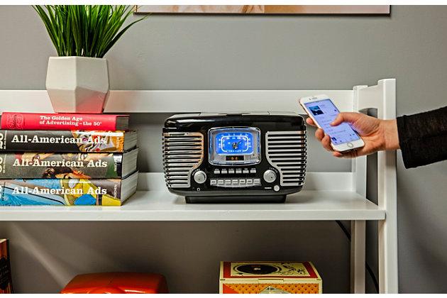 Crosley Corsair Radio Cd Player, Black, large
