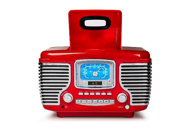 Crosley Corsair Radio Cd Player, Red, large