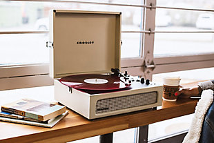 Crosley Voyager Turntable, Dune, rollover