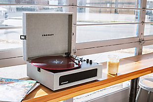Crosley Voyager Turntable, Gray, rollover