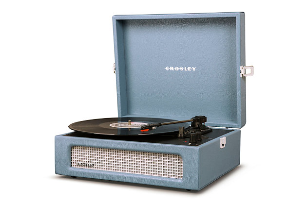 Crosley Voyager Turntable, Washed Blue, large