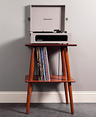 Crosley Manchester Turntable Stand, Paprika, rollover