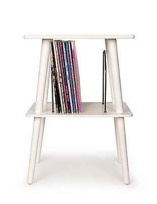 Crosley Manchester Turntable Stand, White, large