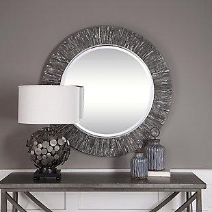 Uttermost Wenton Round Aged Wood Mirror, , rollover