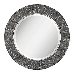 Uttermost Wenton Round Aged Wood Mirror, , large