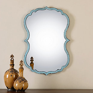 Uttermost Nicola Light Blue Mirror, , rollover