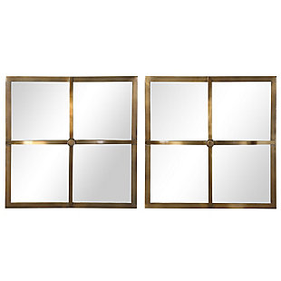 Uttermost Window Pane Square Mirrors, Set of 2, , large