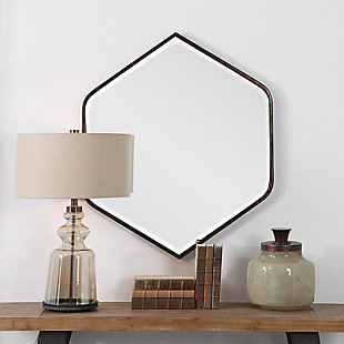 Uttermost Magda Hexagon Wall Mirror, , rollover