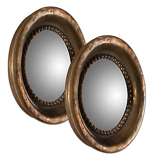 Uttermost Tropea Rounds Wood Mirror Set of 2, , large