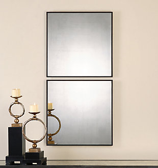 Uttermost Matty Antiqued Square Mirrors, Set of 2, , rollover