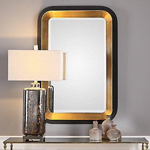 Uttermost Niva Metallic Gold Wall Mirror, , rollover
