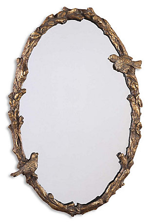 Uttermost Paza Oval Vine Gold Mirror, , large