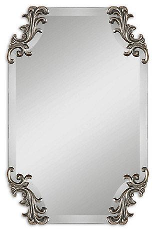 Uttermost Andretta Baroque Silver Mirror, , large