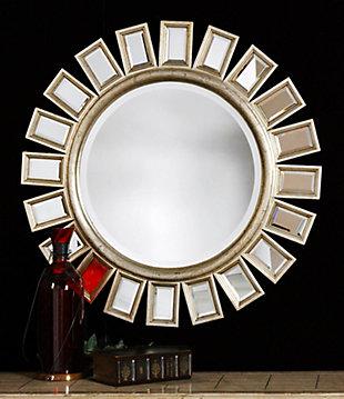 Uttermost Cyrus Round Silver Mirror, , rollover