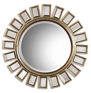 Uttermost Cyrus Round Silver Mirror, , large