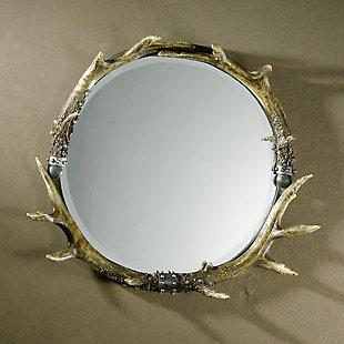 Uttermost Stag Horn Round Mirror, , rollover