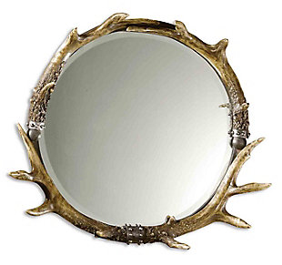 Uttermost Stag Horn Round Mirror, , large