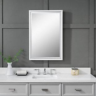 Uttermost Barnaby White Vanity Mirror, , rollover