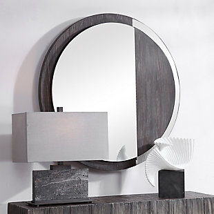 Uttermost Tajitu Modern Round Mirror, , rollover