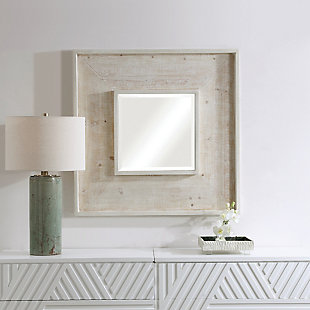 Uttermost Alee Driftwood Square Mirror, , rollover