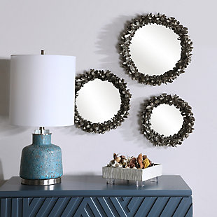 Uttermost Galena Round Mirrors, Set of 3, , rollover