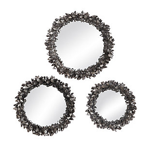 Uttermost Galena Round Mirrors, Set of 3, , large