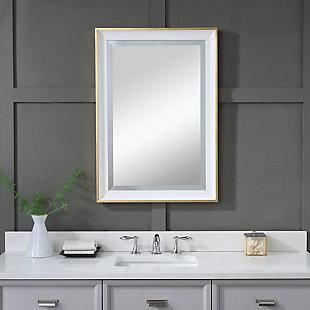 Uttermost Gema White Mirror, , rollover