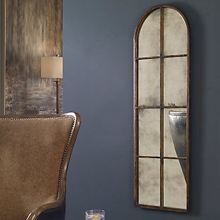 Uttermost Amiel Arched Brown Mirror, , rollover