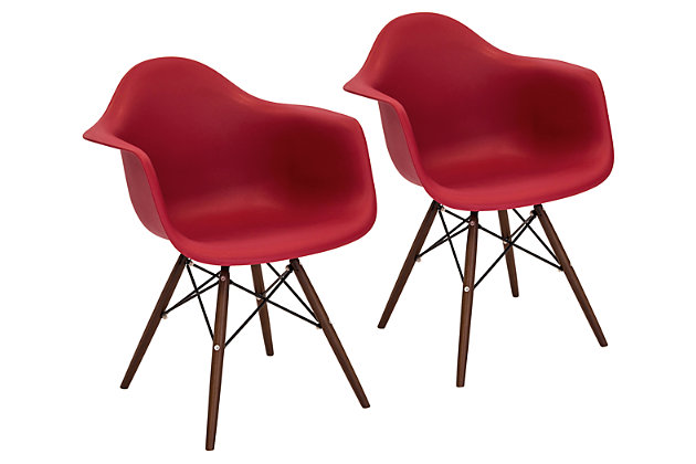 Lumisource Neo Flair Chair (Set of 2) by Ashley HomeStore, Red