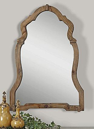 Uttermost Agustin Light Walnut Mirror, , rollover